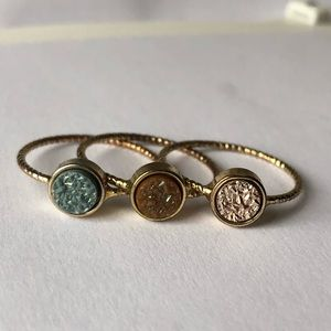 Druzy Ring Set Urban Outfitters